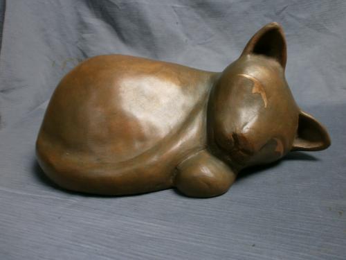 Grand chat couché boule...